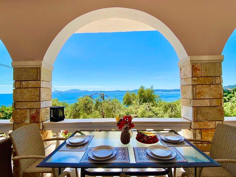 Nissaki Sunlight - New Summer Home above the Beach, holiday rental in Nissaki