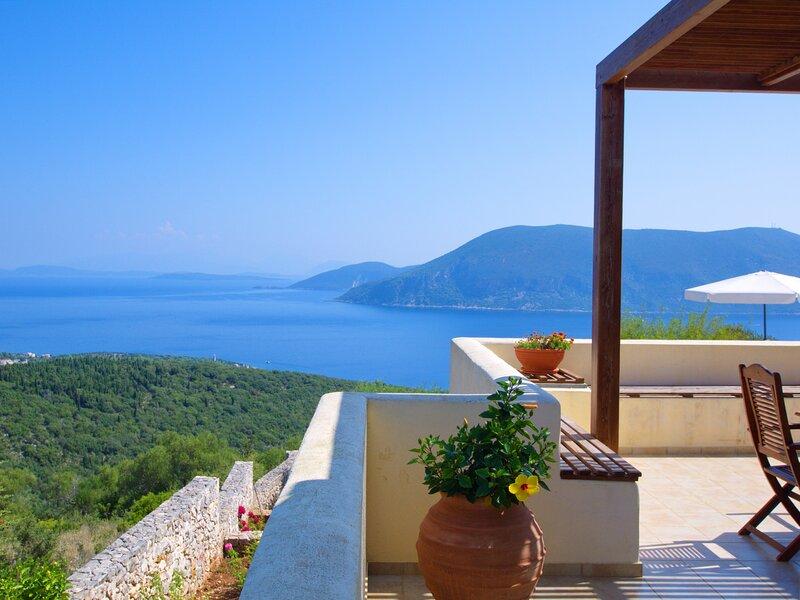 Villa Fiskardo View, location de vacances à Platrithias