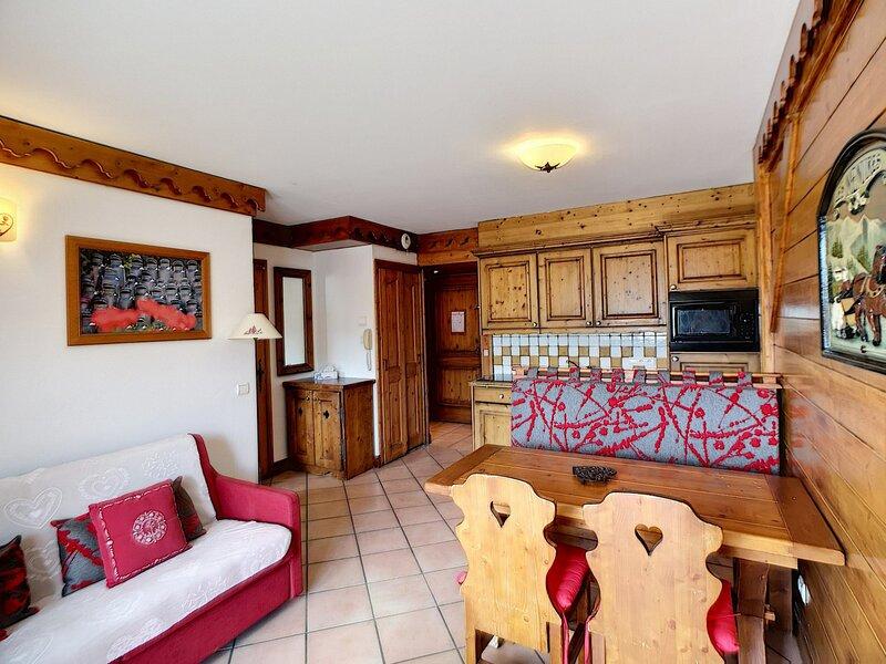 LES ALPAGES DE REBERTY Très beau 3 Pièces 37m² 2 chambres 6 pers expo sud, casa vacanza a Les Bruyeres