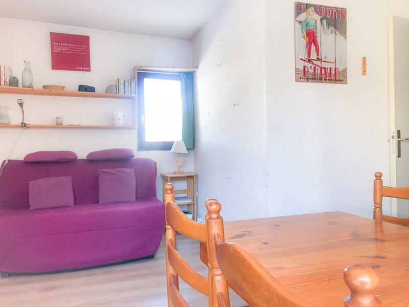 Appartement avec une chambre au pied d'une piste verte, alquiler vacacional en Mont-de-Lans