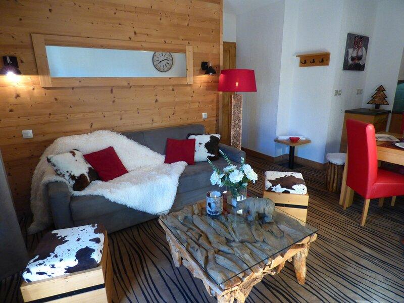 Exceptionnel! 3 pièces en résidence de tourisme 4* avec piscine et spa, holiday rental in Hauteluce