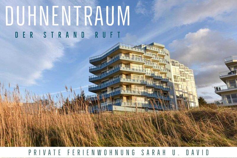 1.Reihe Appartement direkt am Strand m. Meerblick, W-Lan, Parkplatz, holiday rental in Duhnen