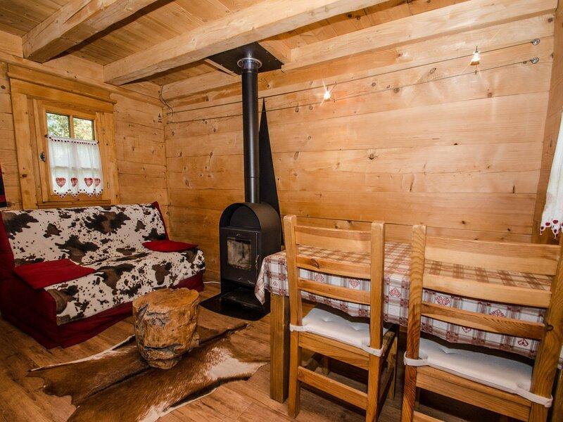 Charmant mazot pour 2/3 personnes, alquiler vacacional en Les Praz-de-Chamonix