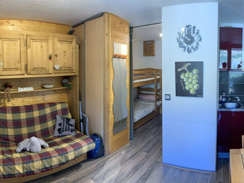Appartement T2 en Haut de station, alquiler vacacional en Mizoen
