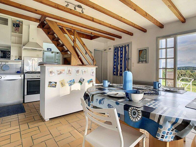 Ty Pen Ar Pont maison de pêcheur vue mer classée 2** jardin devant la mer, casa vacanza a Pleumeur Bodou