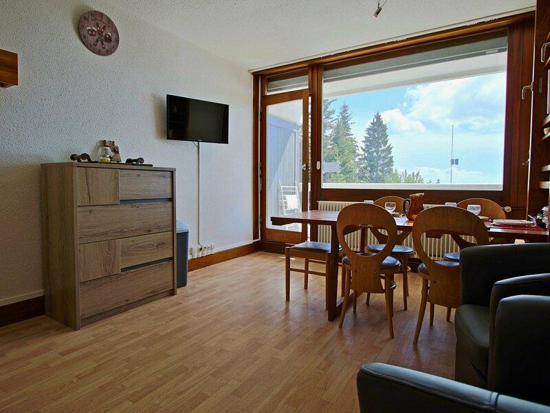 Studio cabine au pied des pistes, alquiler de vacaciones en Chamrousse