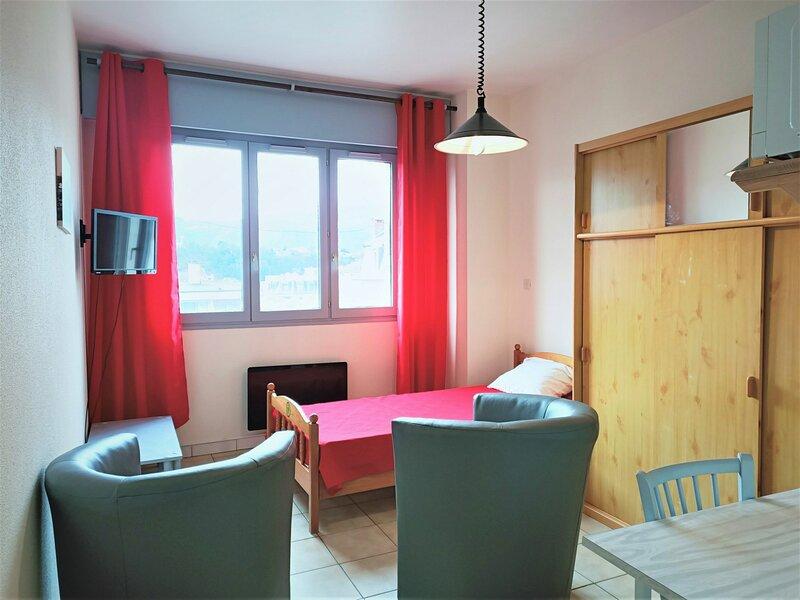 Studio centre-ville avec vue sur la Dent du Chat !, holiday rental in Mouxy