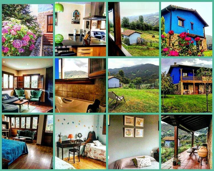 Alquiler casa de aldea  La Xana Azul .Con Vistas., casa vacanza a Pola de Laviana