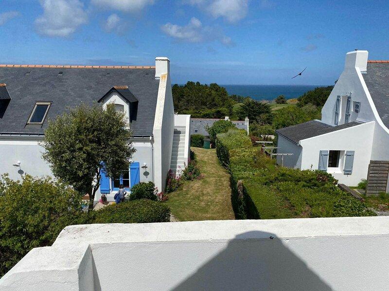 Maison d'1 chambre avec jardin proche de la plage des Grands Sables., alquiler vacacional en Locmaria