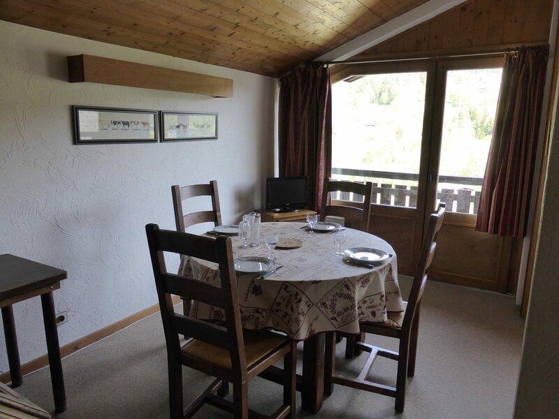 Appartement 3 pièces pour 6 personnes avec vue sur la pointe du Mont-Blanc, holiday rental in Demi-Quartier