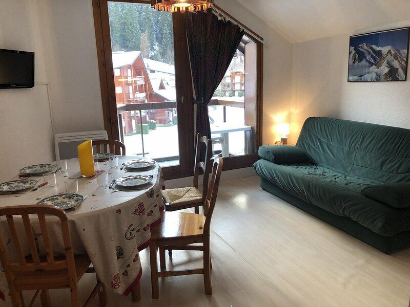 Appartement 3 pièces pour 6 personnes situé aux Hameaux du Lay, alquiler de vacaciones en Les Contamines-Montjoie