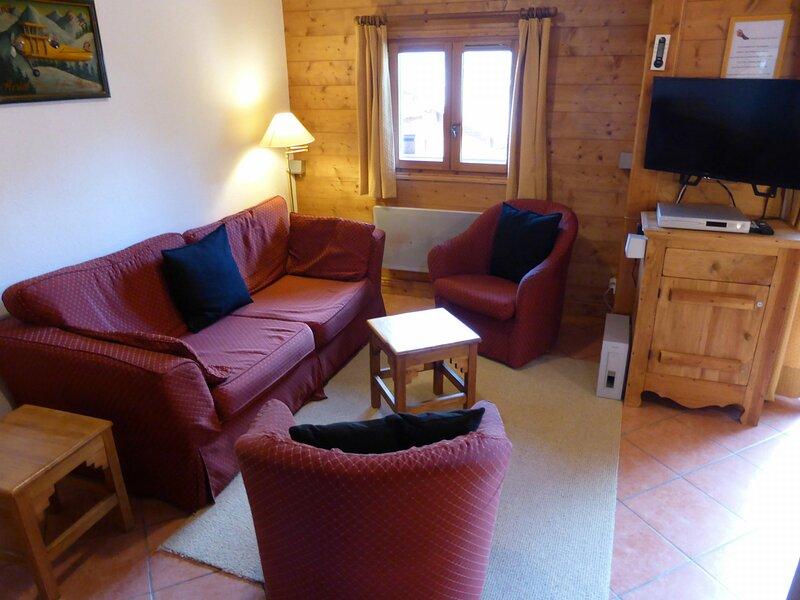 Appartement 2 pièces cabine mezzanine pour 6 personnes situé sur les hauteurs, aluguéis de temporada em Les Contamines-Montjoie