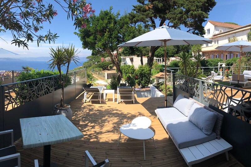 Le Nouveau Silène - Apartment T2 of 28 m2  Sea view with 25 m2 terrace, holiday rental in Ile du Levant