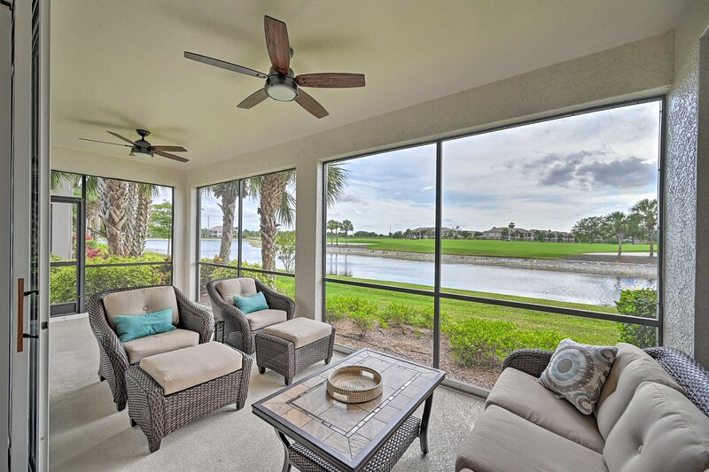 NEW! Naples Escape w/ Lanai & Golf Course Views!, holiday rental in Golden Gate