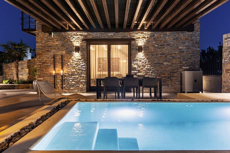 Signature Lethe Villa with Private Pool Kato Gatzea Pelion Greece, vacation rental in Milies