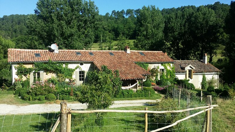 Romantic Mill Cottage 30 min from Bergerac, France, holiday rental in Douzillac