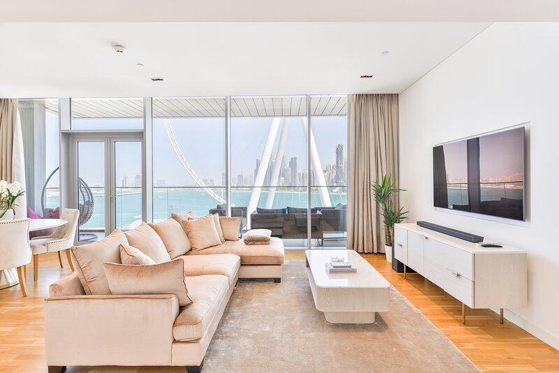 Contemporary 2 BR Apartment in Bluewaters Island, alquiler de vacaciones en Murqquab