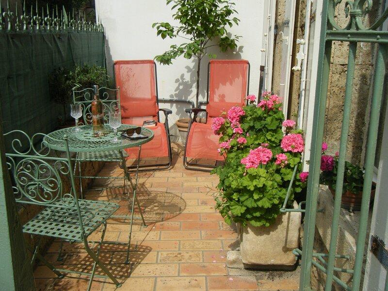Appartement de Roses et de Vignes - renovated 19th century wine makers apartment, location de vacances à Saint-Andre-de-Roquelongue