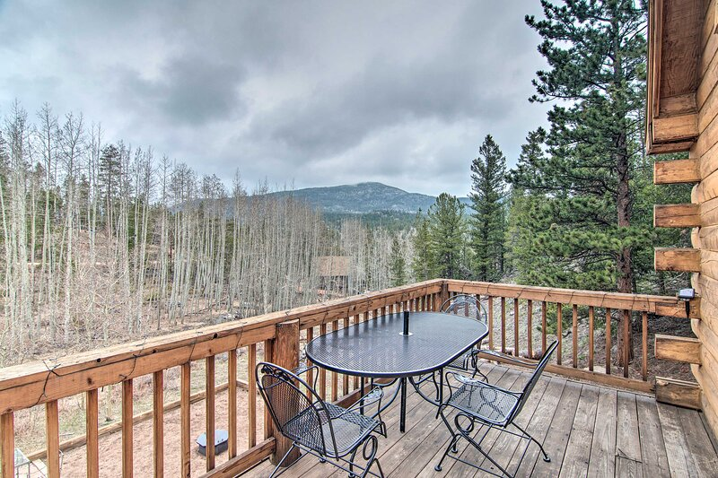 NEW! Red Feather Lakes Studio Cabin w/ Deck & Yard, aluguéis de temporada em Red Feather Lakes