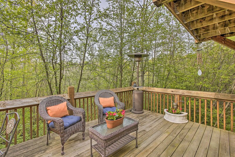 NEW! Resort Cabin w/ Fire Pit: Golf, Hike, & Play!, holiday rental in New Era
