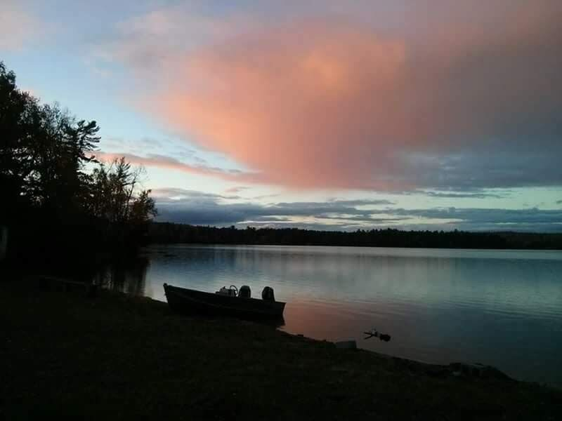Fishing boat at dusk
