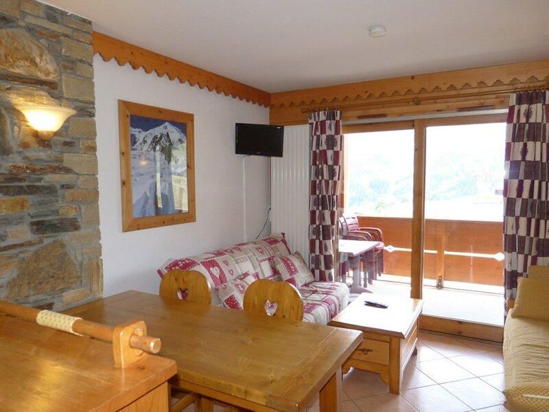 Appartement 2 pièces avec cabine pour 6 personnes, vacation rental in Belle Plagne