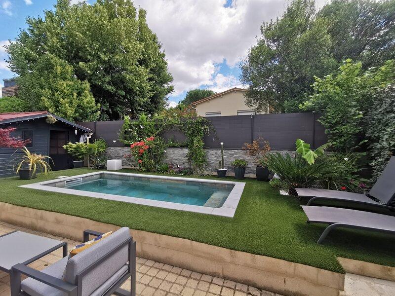 Charmant T2 Montpellier proche Arceaux avec jardin, casa vacanza a Saint-Georges-d'Orques
