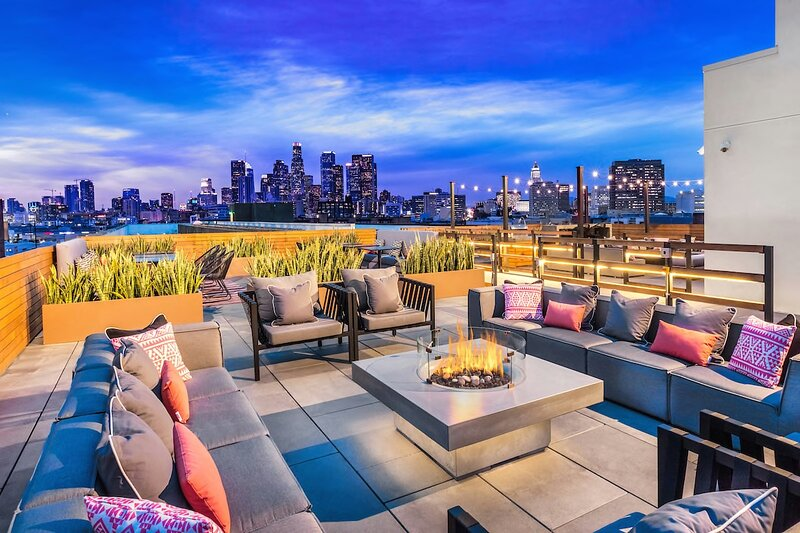 Rooftop deck rendering - a perfect place to watch the sun set