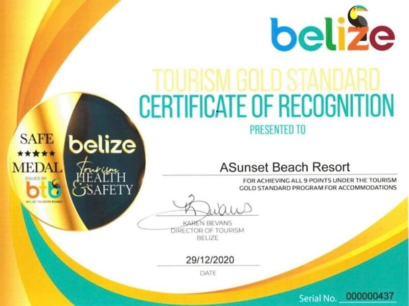 GOLD STANDARD APPROVED by the Belize Tourism Board