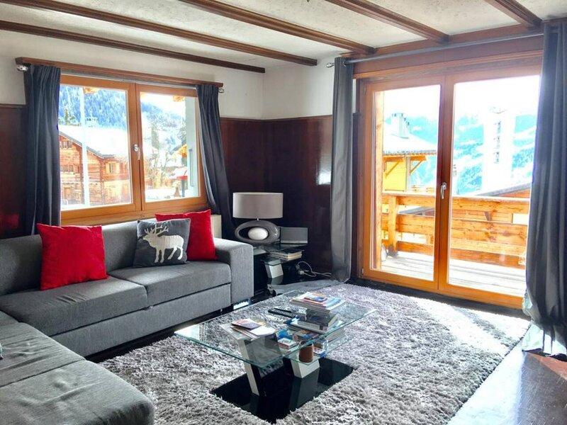 Verbier 3-Bed Apartment summer golf, winter ski, casa vacanza a Verbier