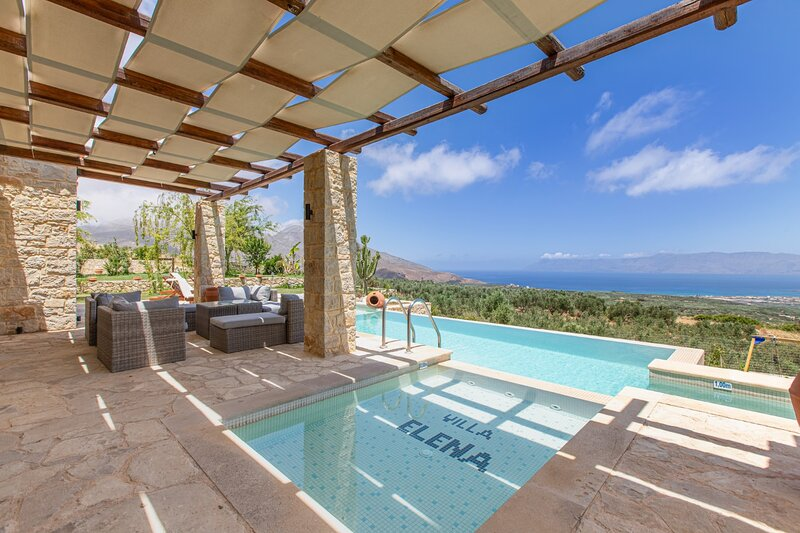 Heated pool+hydro-massage★Sea view★Near Falasarna, holiday rental in Falassarna