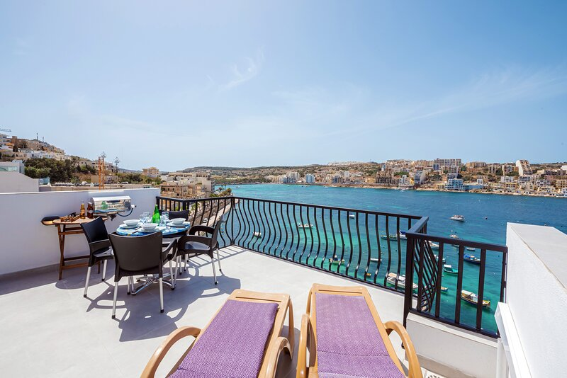 Spectacular sea views from the private terrace