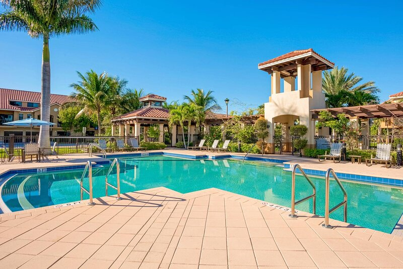 Go for a swim in the resort-style outdoor pool