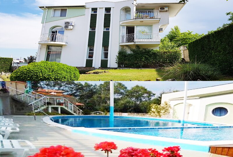 Swimming pool villa close to beach !, holiday rental in Shkorpilovtsi