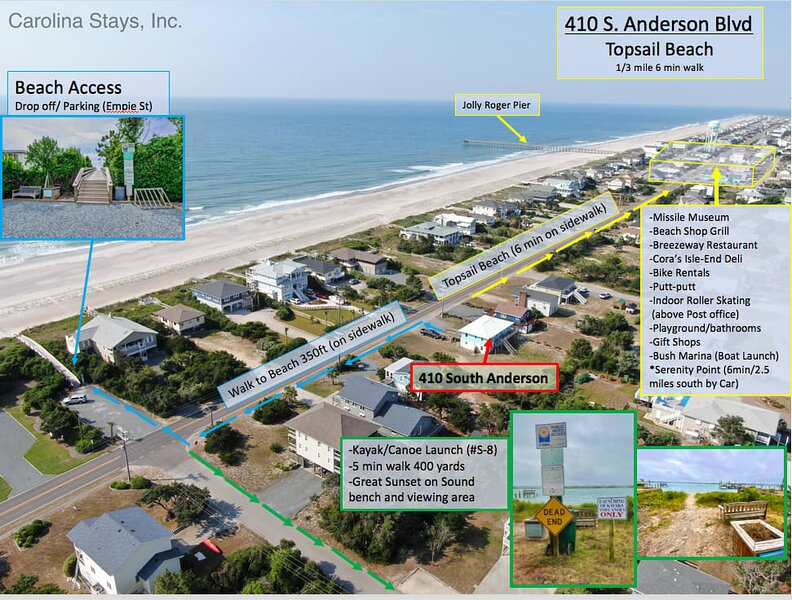 BRAND NEW! S Topsail Paradise! Steps 2 the BEACH! Hop 2 Pier/Boardwalk!, holiday rental in Topsail Beach