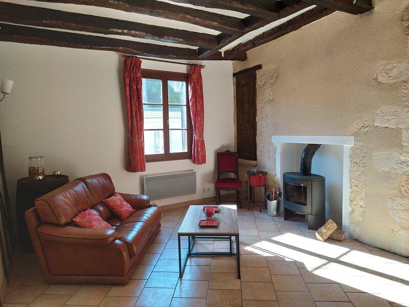 Magnifique gîte 2** duplex 90m2 entre le Château et Clos Lucé, casa vacanza a Nazelles
