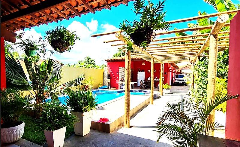 Casa com Wi-Fi e lazer em Porto de Pedras - AL, holiday rental in State of Alagoas