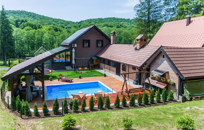 Amazing home in Novo Zvecevo with Outdoor swimming pool, Sauna and 4 Bedrooms (C, holiday rental in Slavonia