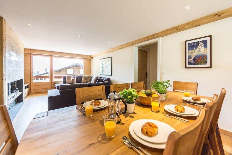 Modern 3-Bed ski/summer Apartment, Verbier, Swiss, holiday rental in Verbier