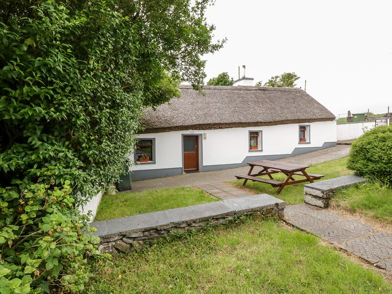THE THATCHED COTTAGE, pet friendly, character holiday cottage, with a garden in, holiday rental in Liscarney