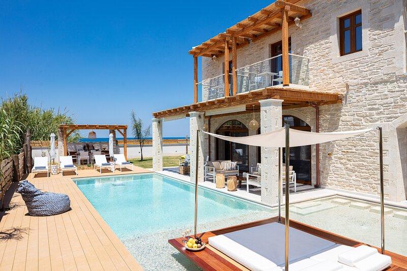 Thetida Villa, a Sublime Beachfront Retreat!, holiday rental in Sfakaki
