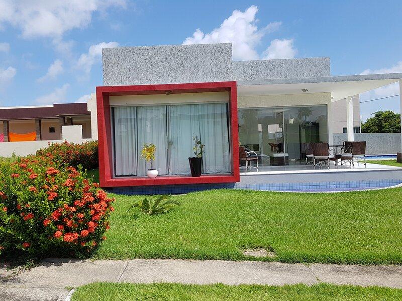 Salinas, PA: casa em condomínio com lazer completo, aluguéis de temporada em Pará