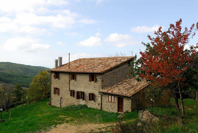 Un soggiorno immersi nel verde - Agriturismo La Piaggia -app 2 ospiti, holiday rental in Vivo d'Orcia