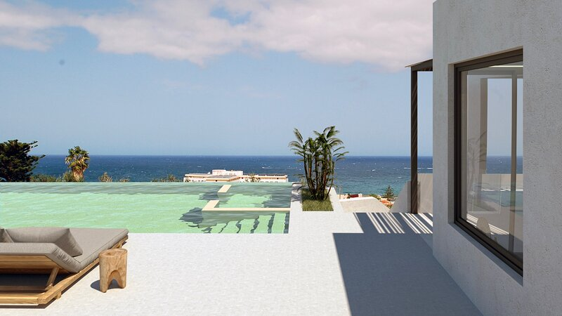 Lux Villa w/ Private Infinity Pool, Jacuzzi & Great Seaview, 500m from Sea (C), vacation rental in Stavromenos Rethymnis