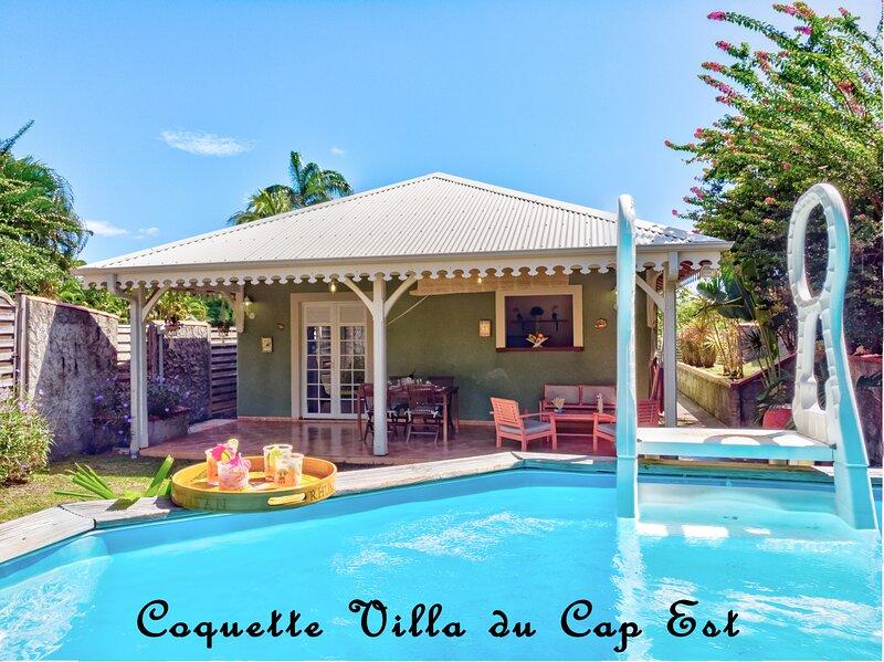 Coquette villa du Cap Est - TARIF SPÉCIAL CONFINEMENT, alquiler de vacaciones en Le Francois
