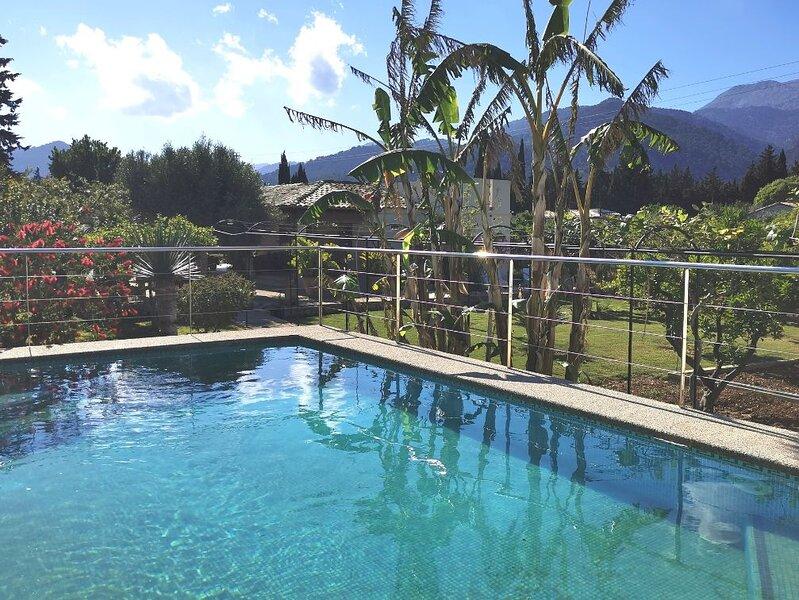 casa de vacaciones económica con vistas espectaculares en Selva Mallorca, location de vacances à Selva