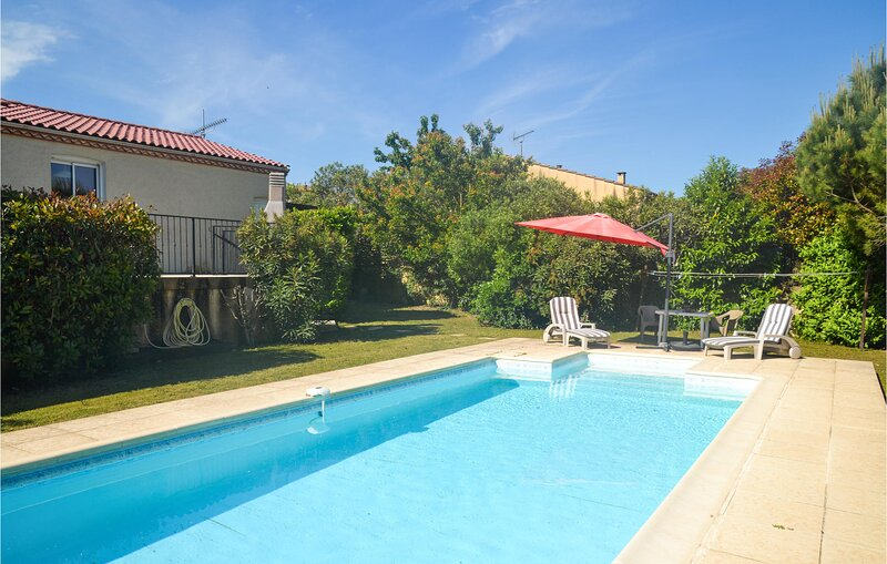 Awesome home in Palaja with Outdoor swimming pool and 4 Bedrooms (FLA265), holiday rental in Fonties-d'Aude