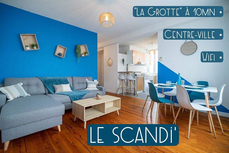 *LE SCANDI*T3*HYPER CENTRE*TOUT CONFORT*WIFI, holiday rental in Lestelle Betharram