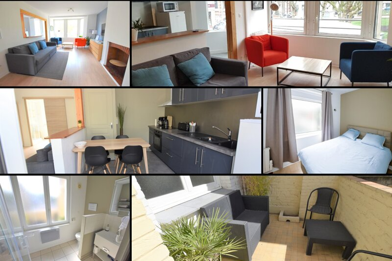 Appartement 4 personnes Dunkerque Plage - Wifi et parking gratuits, holiday rental in Gravelines