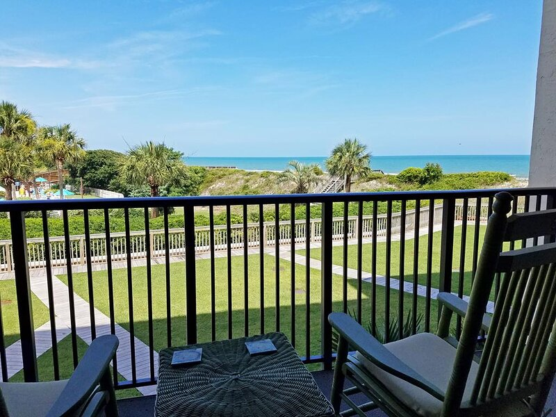 Oceanfront Townhouse-style Condo, Balcony, Patio, Elevator, Pool, Resort Setting, holiday rental in Pawleys Island